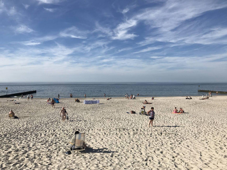 piękna plaża niechorze